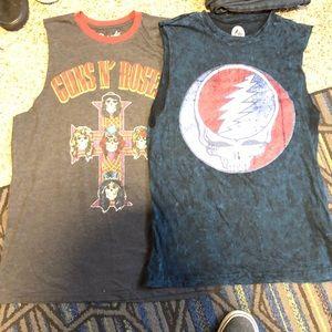 Two cutoff band tees , Grateful Dead / Guns n rose